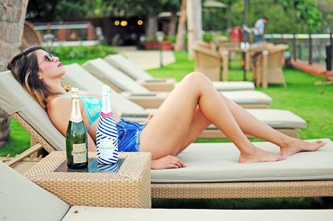 Beach Days   Goa   Akanksha Redhu   poolside side far