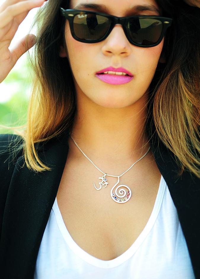 Basic Vibes | Akanksha Redhu | pink lips and necklace