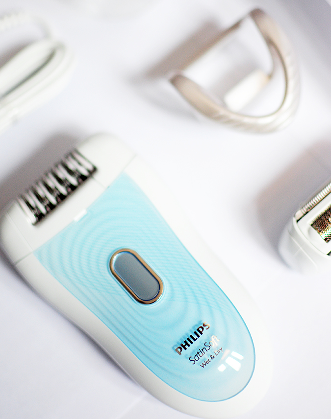 Philips - Satinelle Advanced Epilator | Akanksha Redhu | tilted flatlay