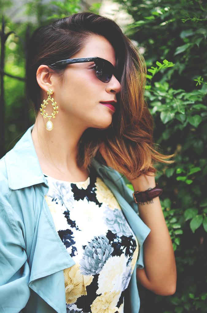 Not Too Dressy | #ootd | Akanksha Redhu | half side hair on side