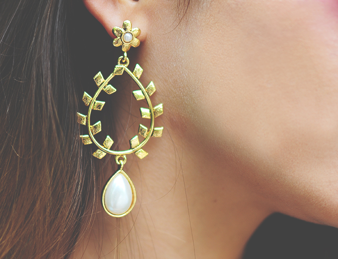 Not Too Dressy | #ootd | Akanksha Redhu | earrings