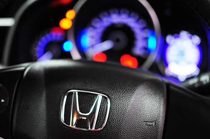 #AllNewJazz | Honda | Akanksha Redhu | branding on steering wheel