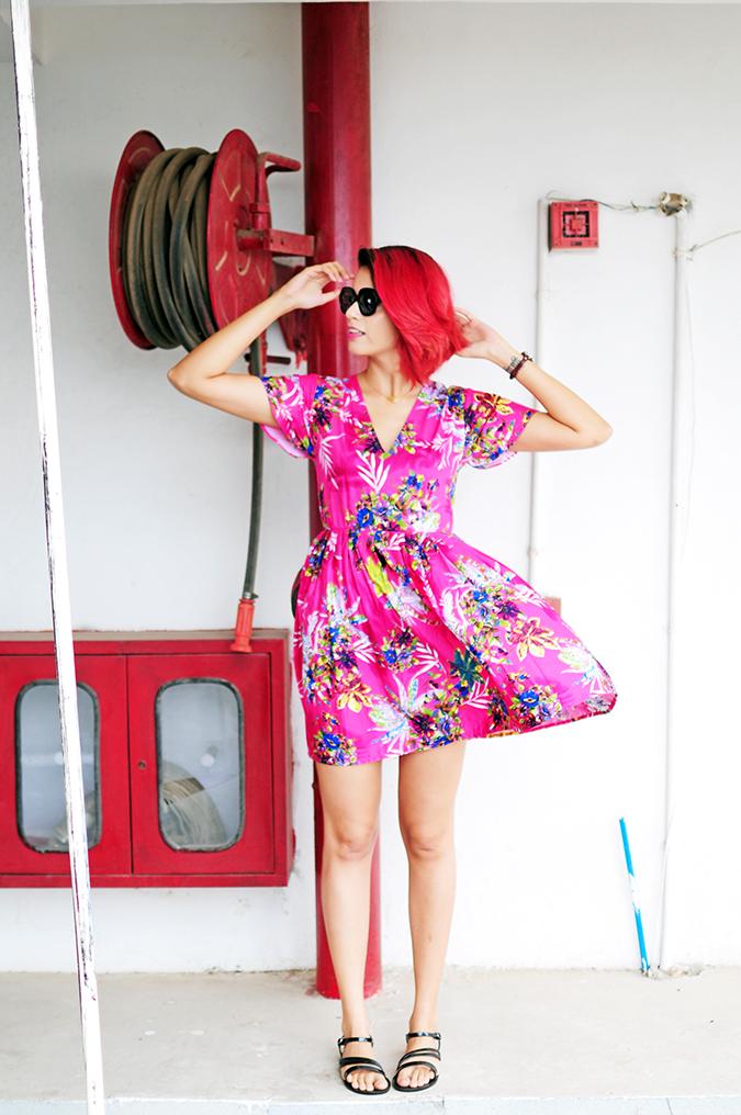 Pink Bloom | #ootd | Akanksha Redhu | full front