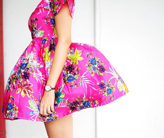Pink Bloom | #ootd | Akanksha Redhu | half side no face