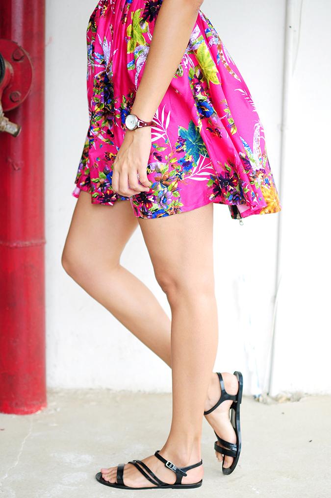 Pink Bloom | #ootd | Akanksha Redhu | half bottom side