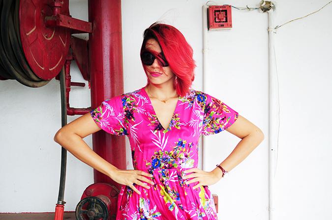 Pink Bloom | #ootd | Akanksha Redhu | half front widest