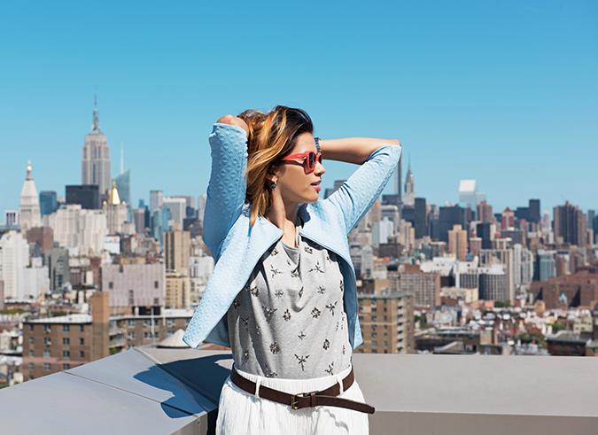 New York | #RedhuxVeroModa | half front both arms up