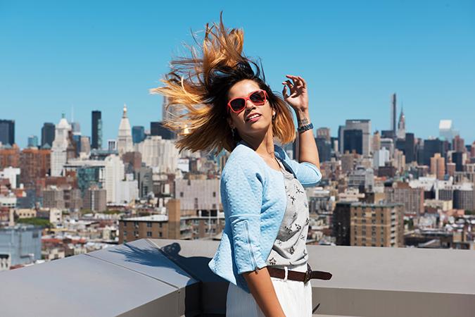 New York | #RedhuxVeroModa | half front hair fly view