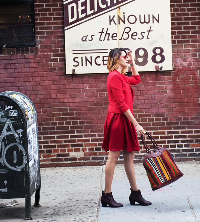 Ludlow Street |New York City | #RedhuxNYC | full side bag swing