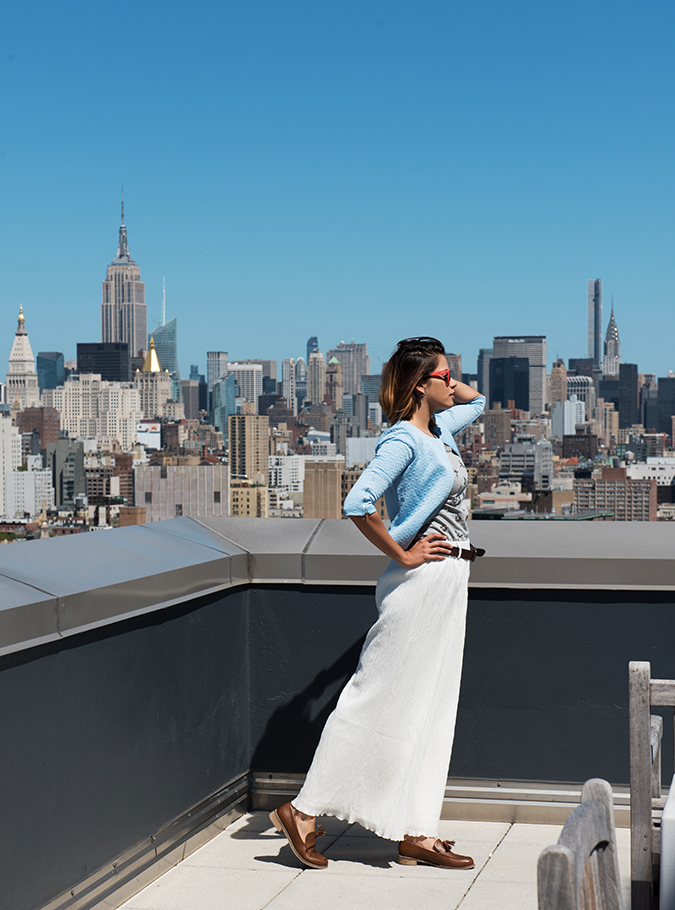 New York | #RedhuxVeroModa | side full empire back