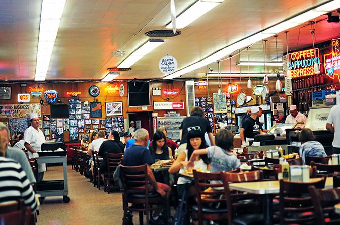 Katz's Delicatessen | #RedhuxNYC | people sitting