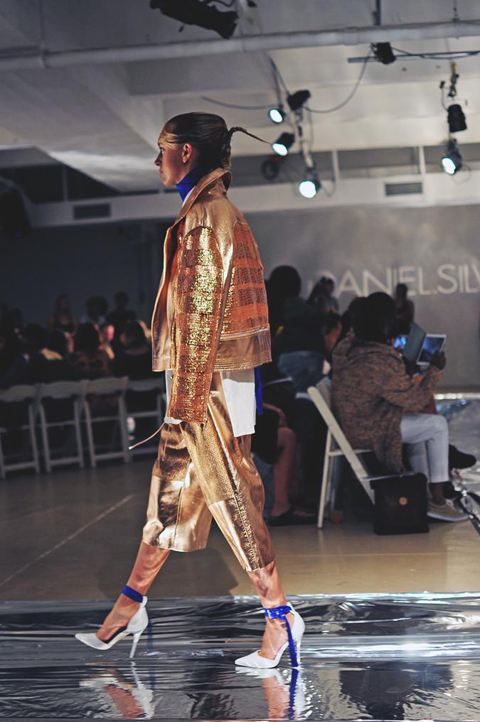 Daniel Silverstain | NYFW | Akanksha Redhu | gold jacket