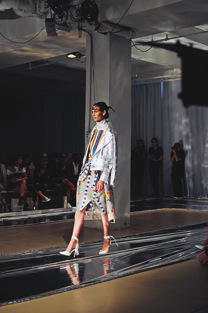 Daniel Silverstain | NYFW | Akanksha Redhu | silver jacket