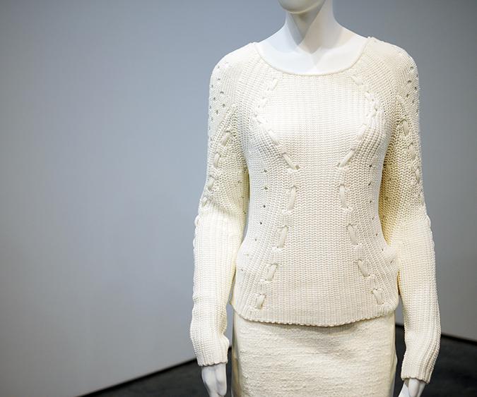 Tess Giberson | NYFW | #RedhuxNYC | cream sweater