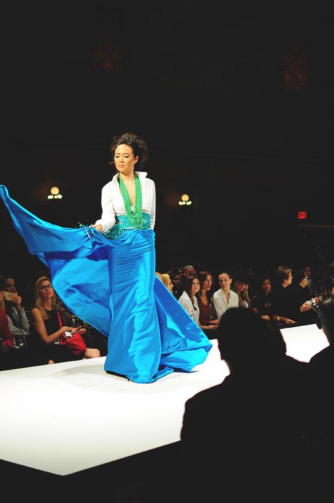 Malan Breton | StyleFW | NYFW | #RedhuxNYC | turq skirt flare