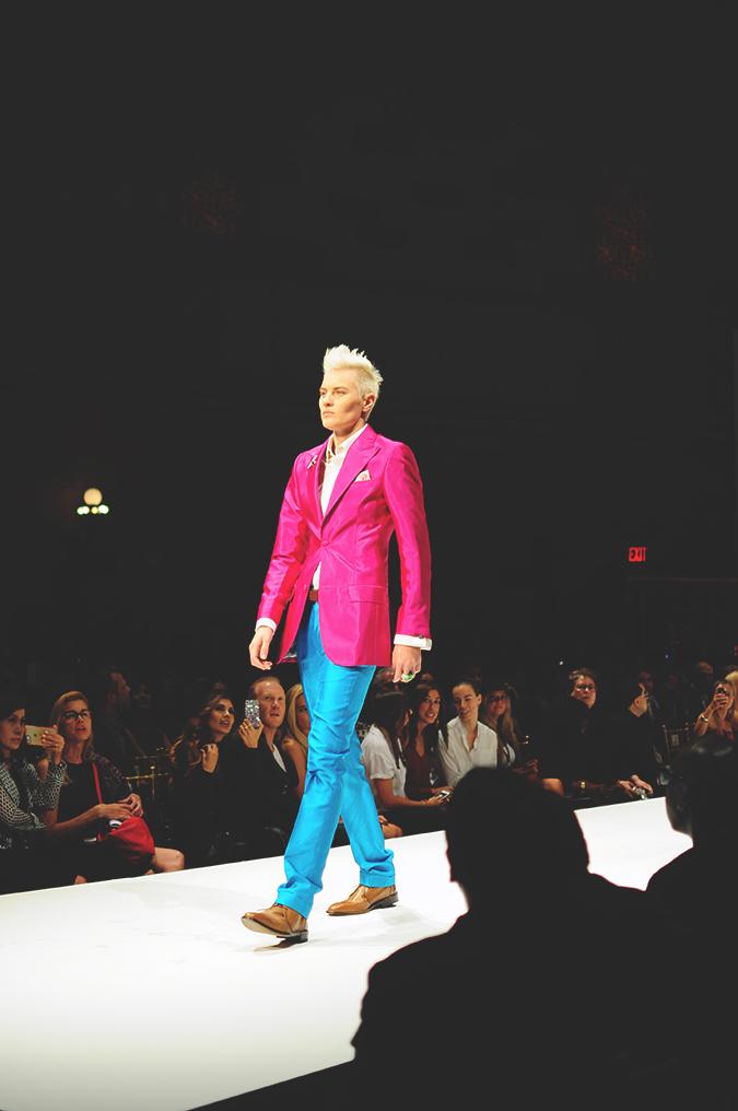 Malan Breton | StyleFW | NYFW | #RedhuxNYC | pink and turq suit