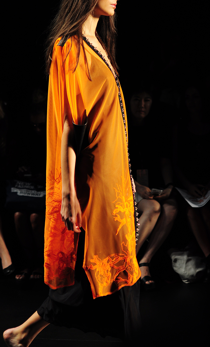 Francesca Liberatore | NYFW | #RedhuxNYC | orange kaftan side
