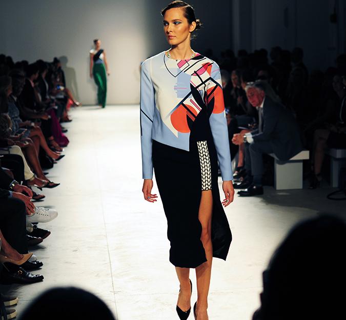 Bibhu Mohapatra | NYFW | Akanksha Redhu | bahaus print dress