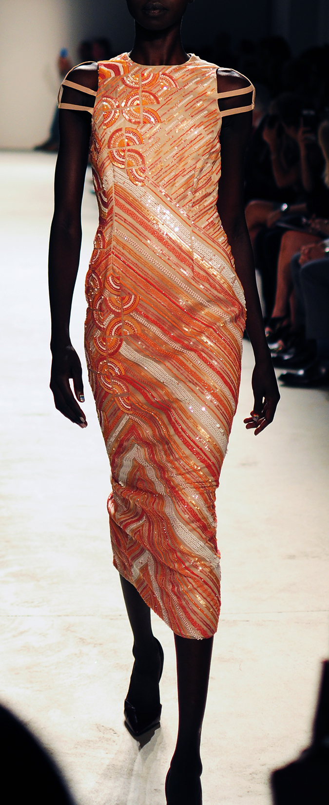 Bibhu Mohapatra | NYFW | Akanksha Redhu | peach sequins tall