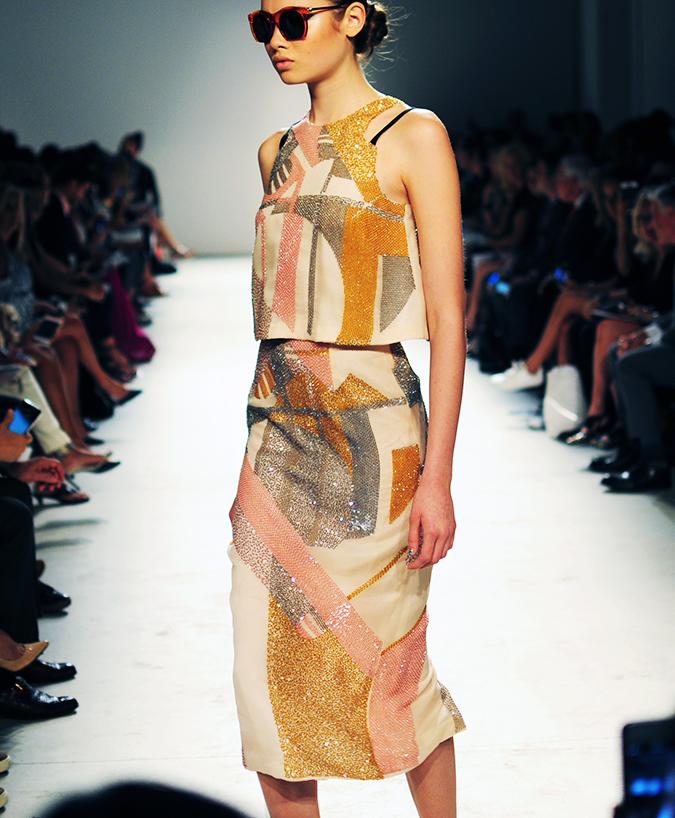 Bibhu Mohapatra | NYFW | Akanksha Redhu | multi sequins side