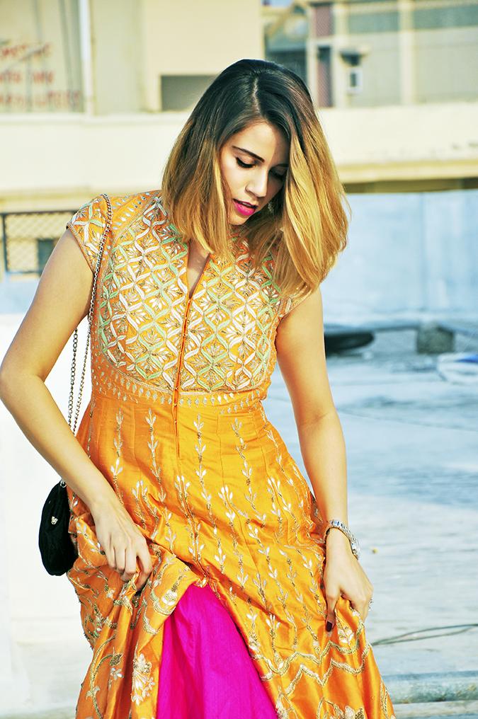 Anita Dongre | Akanksha Redhu | #ootd | half front lifting