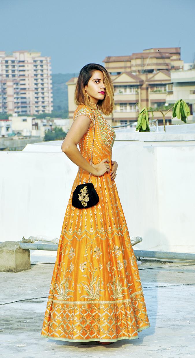 Anita Dongre | Akanksha Redhu | #ootd | full side