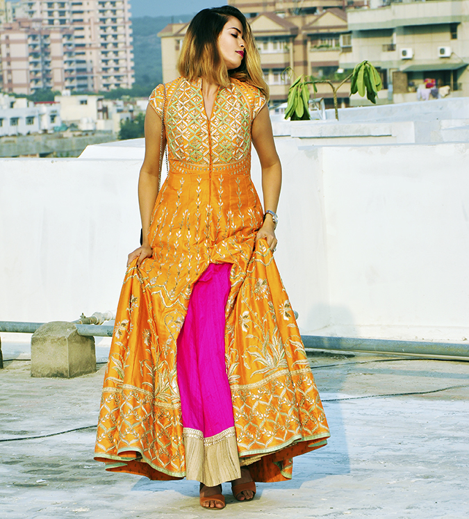 Anita Dongre | Akanksha Redhu | #ootd | full front lifting