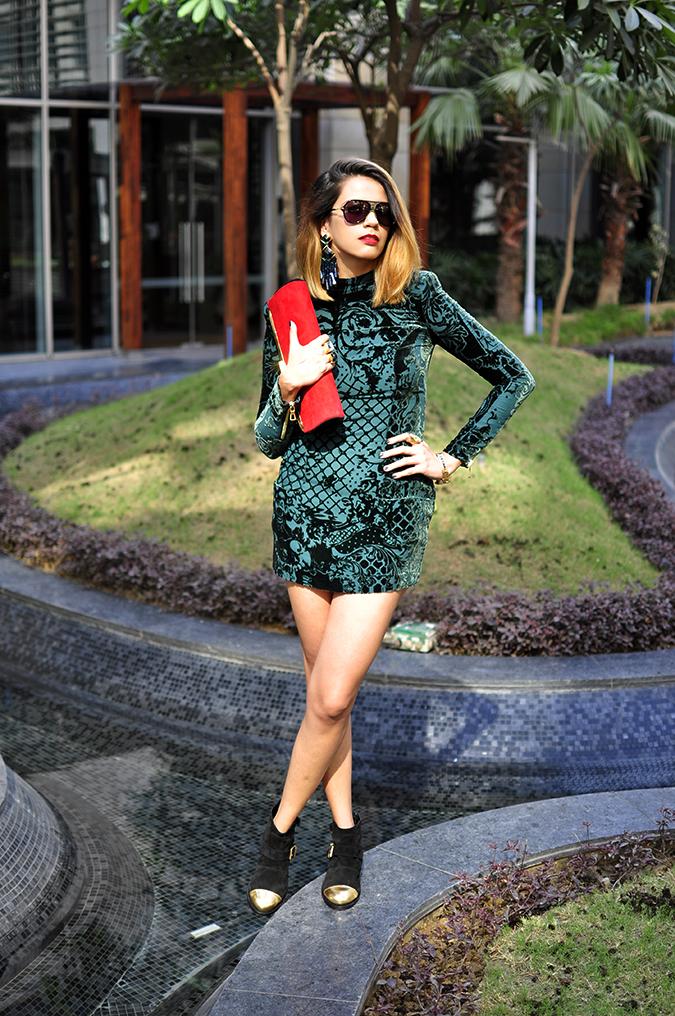 Balmain x H&M | #HMBalmaination | Akanksha Redhu | full front dress legs crossed