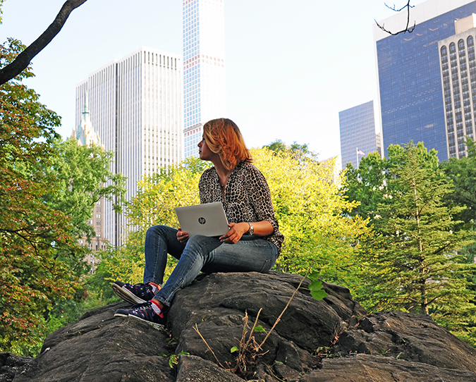 New York City | HP | Akanksha Redhu | HPx2 | sitting on rock looking away