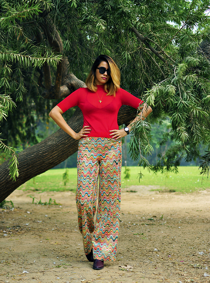 Missoni | Akanksha Redhu | full front tree arms on waist