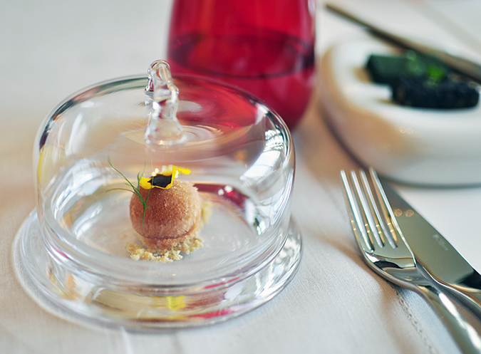 Pluck Restaurant - Pullman New Delhi | Akanksha Redhu | sorbet inside glass