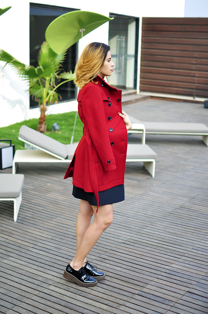 Burberry Festive | Akanksha Redhu | full side coat