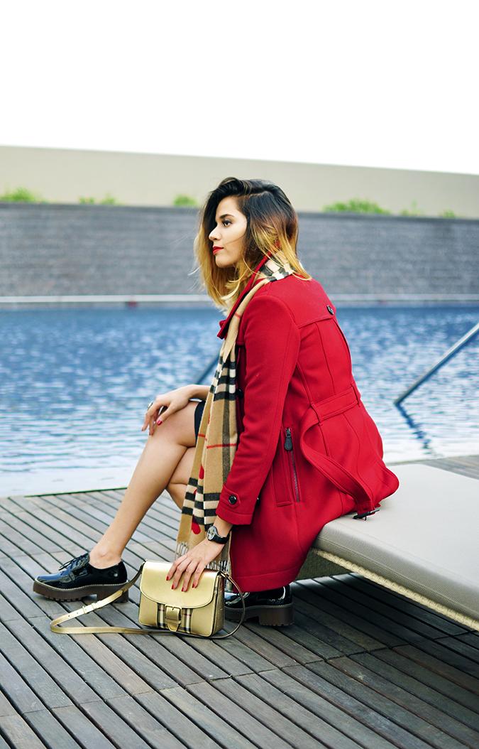 Burberry Festive | Akanksha Redhu | sitting pool