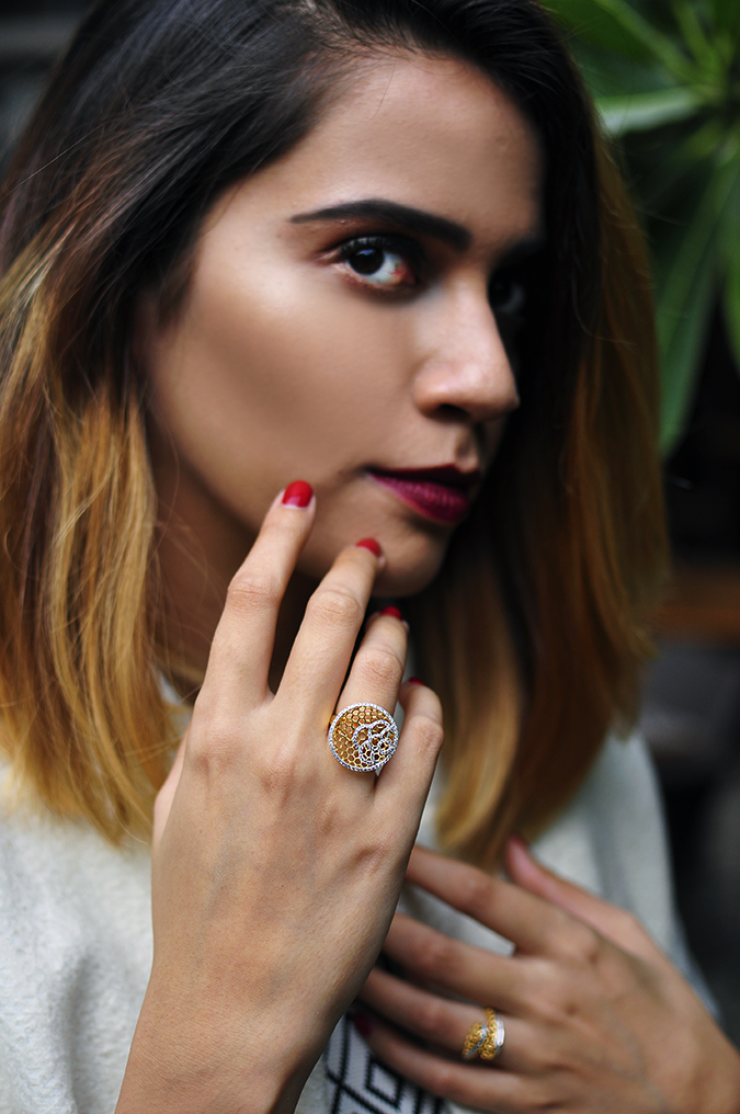BeeJewelled - CaratLane | Akanksha Redhu | dark face with ring