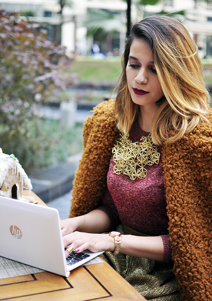 Christmas Cheer | Akanksha Redhu | working on laptop