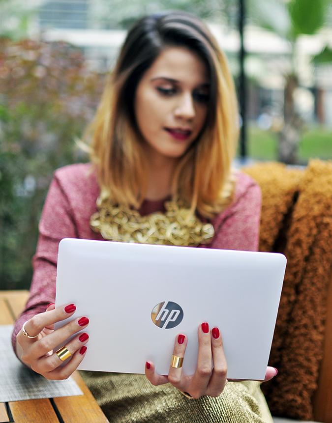 Christmas Cheer | Akanksha Redhu | sitting holding laptop in focus