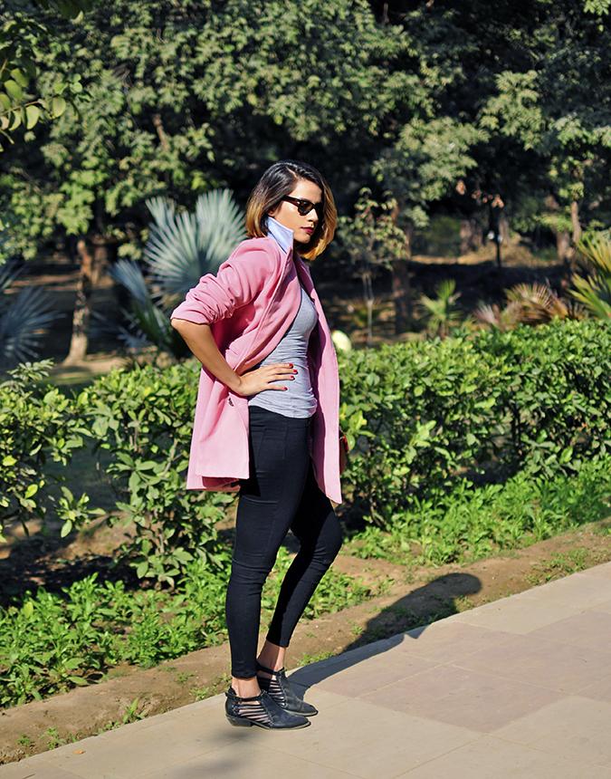 Fresh Pink | #ootd | Akanksha Redhu | full side arm on waist tee