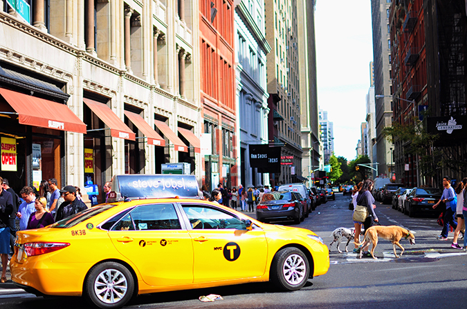 #RedhuxNYC | crossing yellow cab