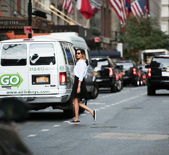 New York | Akanksha Redhu | #RedhuxNYC | crossing road far