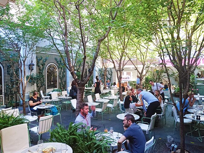 New York | Akanksha Redhu | #RedhuxNYC | Laduree outdoor seating