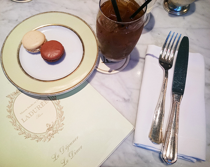 New York | Akanksha Redhu | #RedhuxNYC | macarons and coffee phone Laduree