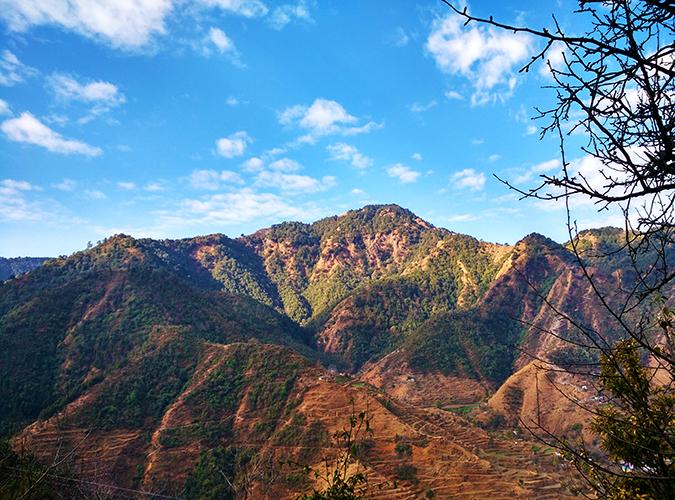 JW Marriott Mussoorie | Akanksha Redhu | Travel | wide mountain during trek return