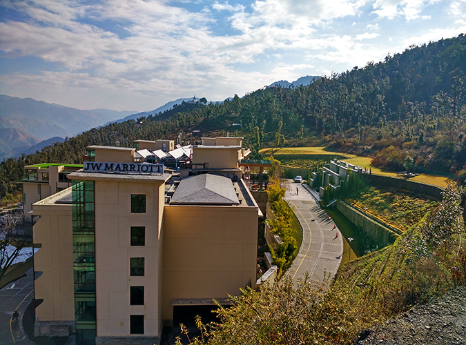 JW Marriott Mussoorie | Akanksha Redhu | Travel | side of hotel wide