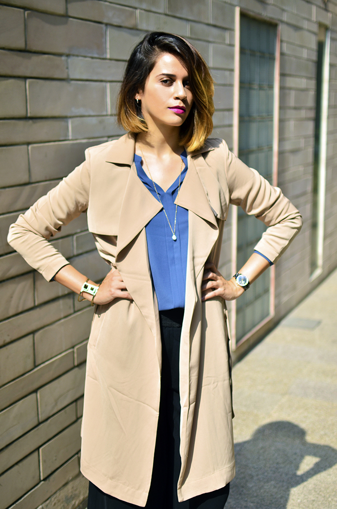 Work Wear | Only | Akanksha Redhu | open jacke half front arms on waist