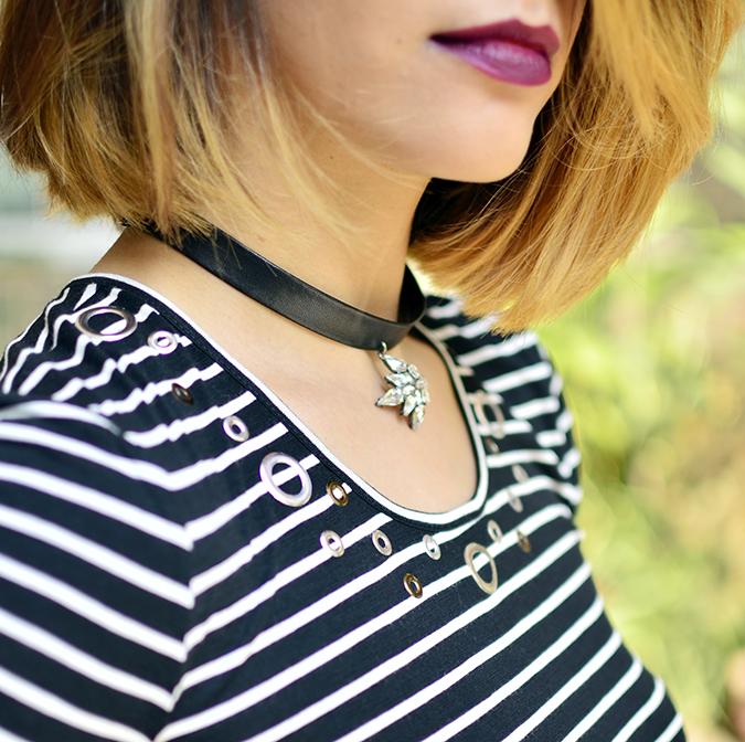 Stripes | Sbuys | Akanksha Redhu | rivet details lips