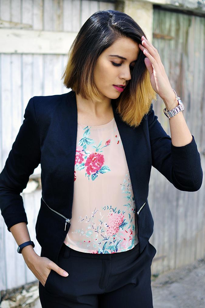 Formal Florals | Vero Moda | Akanksha Redhu | half front hand on pocket removing hair