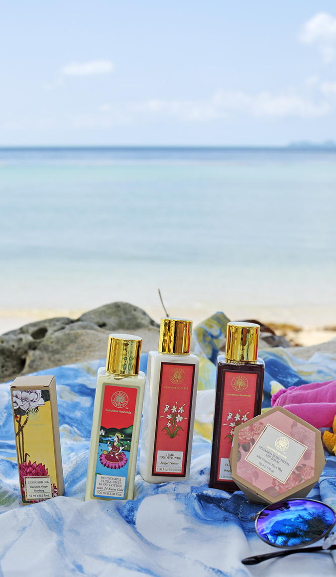 Koh Samui | Akanksha Redhu | forest essentials bottles
