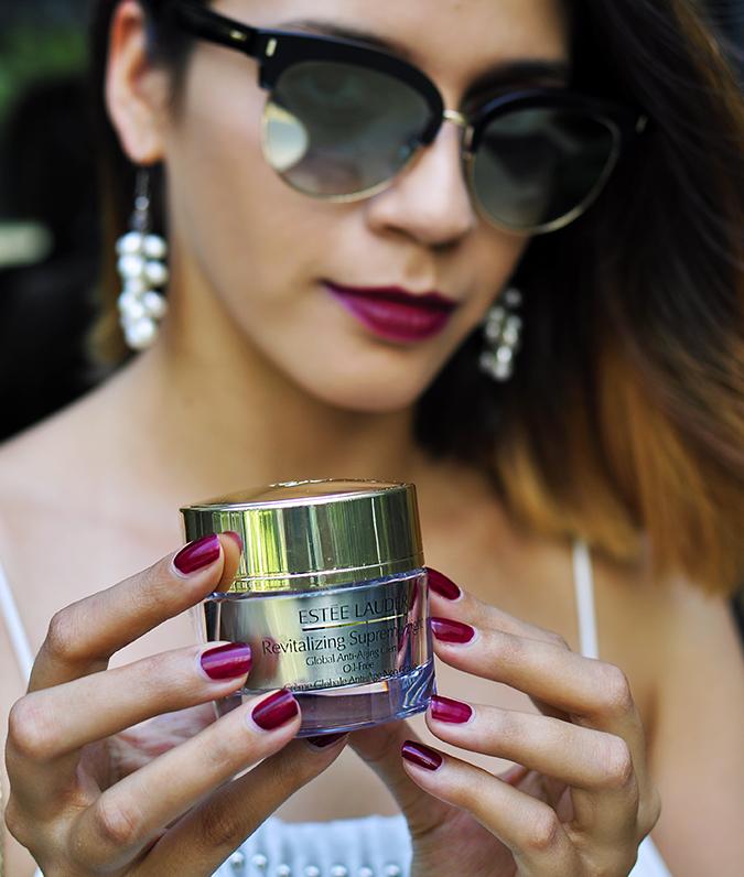 Estée Lauder | Akanksha Redhu | cream in hand
