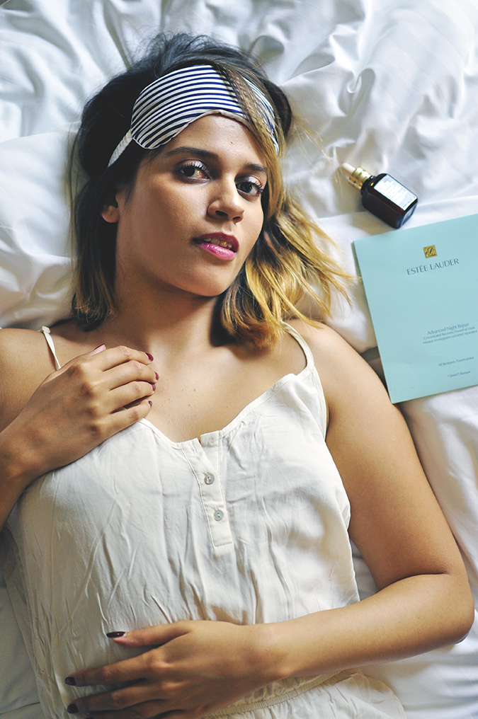 Estée Lauder | Akanksha Redhu | lying with mask next