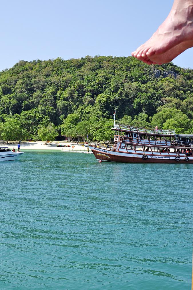 Ang Thong National Marine Park | Akanksha Redhu | feet hanging from boat